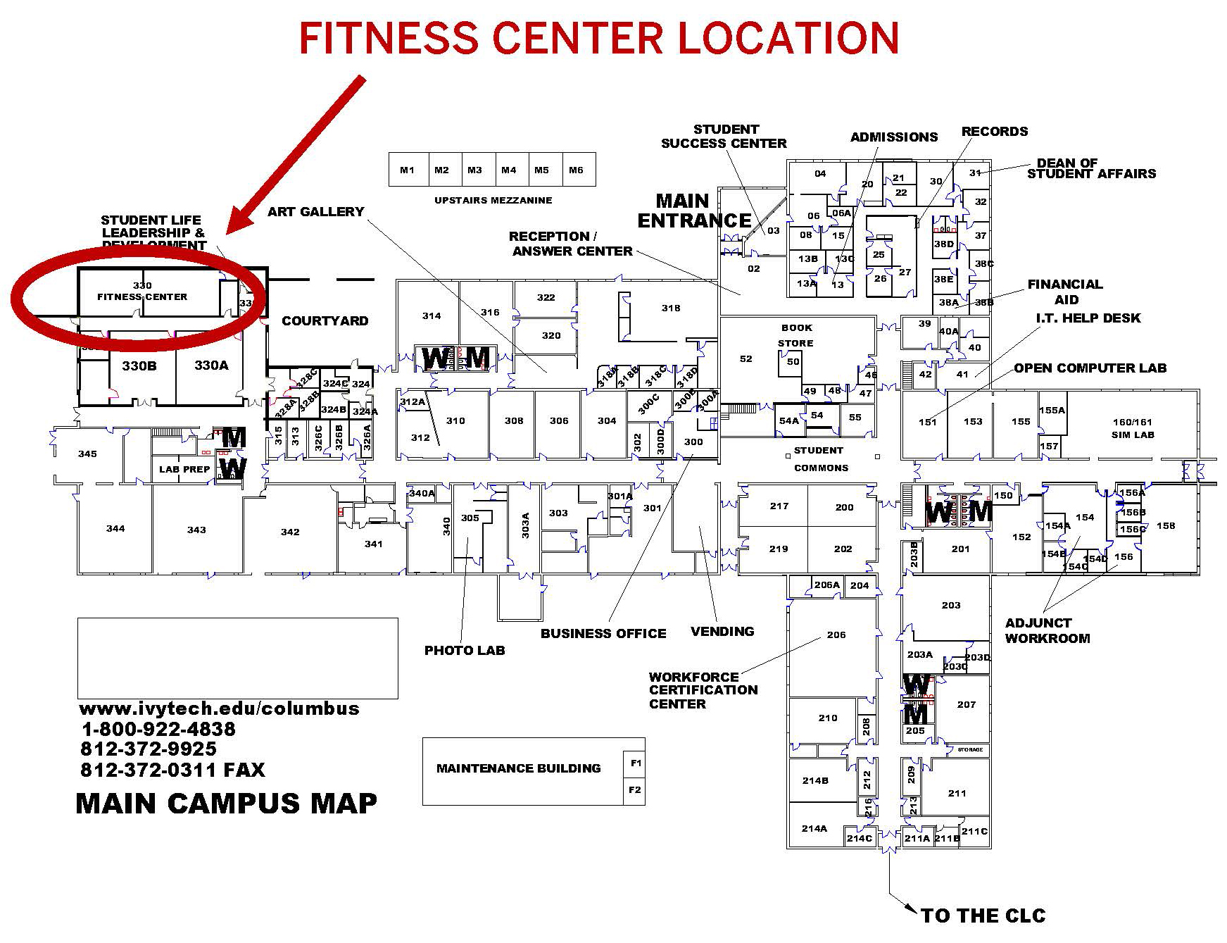 Ivy Tech Bloomington Campus Map.Physical Activity Iupuc Programs Services Healthy Iu Indiana