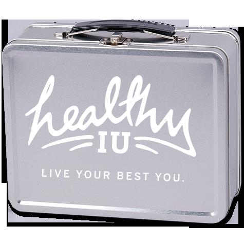 Silver retro lunchbox